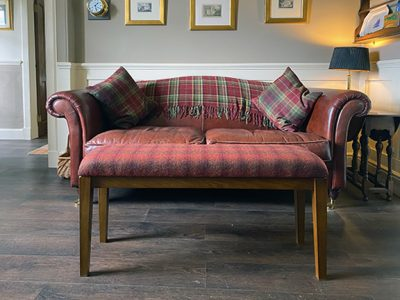 Annan footstool with oak frame