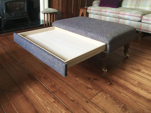 Footstool with drawer